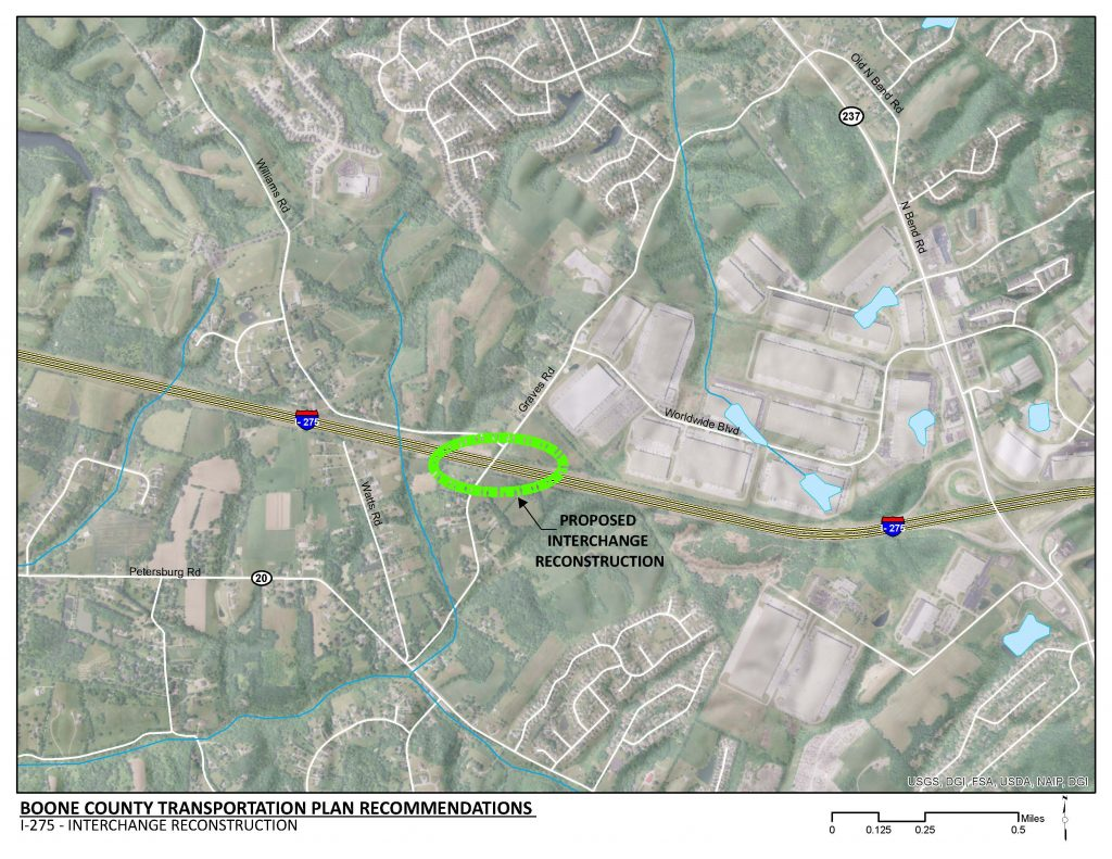 Boone County: Route 63 Improvements along interchanges at